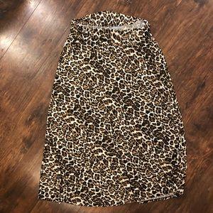 5 for $25 Leopard Print Maxi Skirt B48